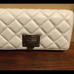 Michael Kors, White Leather Wallet